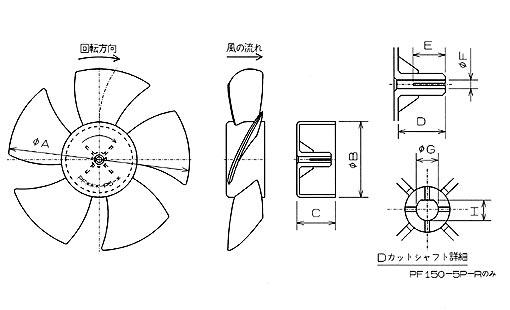 プロペラファン平面図1