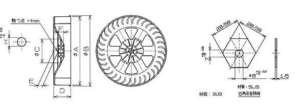 シロッコファン平面図2